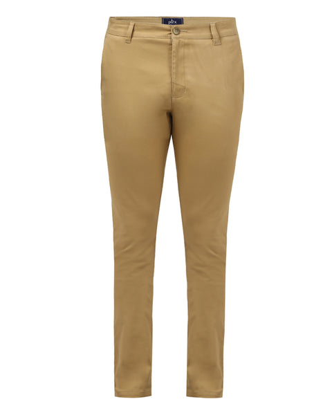 Parx Khaki Low Rise Tapered Fit Trouser
