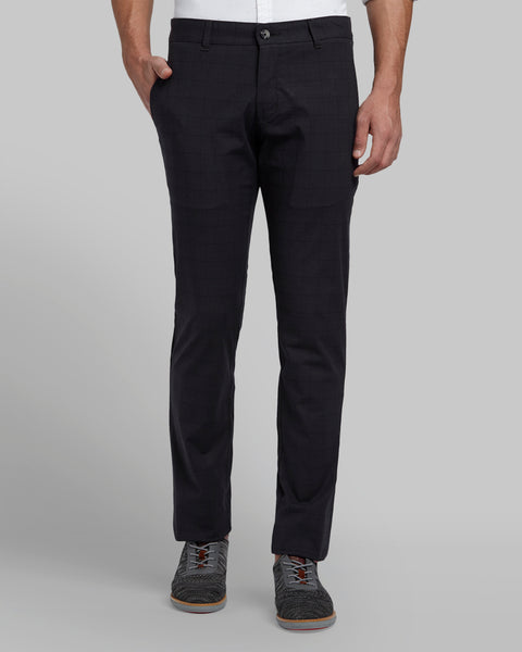 Parx Dark Grey Tapered Fit Trouser