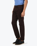 Parx Dark khaki Slim Fit Trouser
