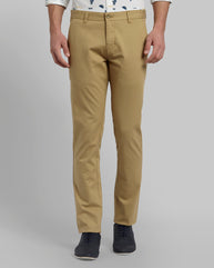 Parx Khaki Tapered Fit Trouser