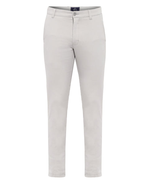 Parx Light Grey Tapered Fit Trouser