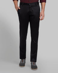 Parx Black Tapered Fit Trouser