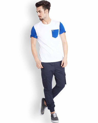 Parx  Blue Jogger Fit Trouser