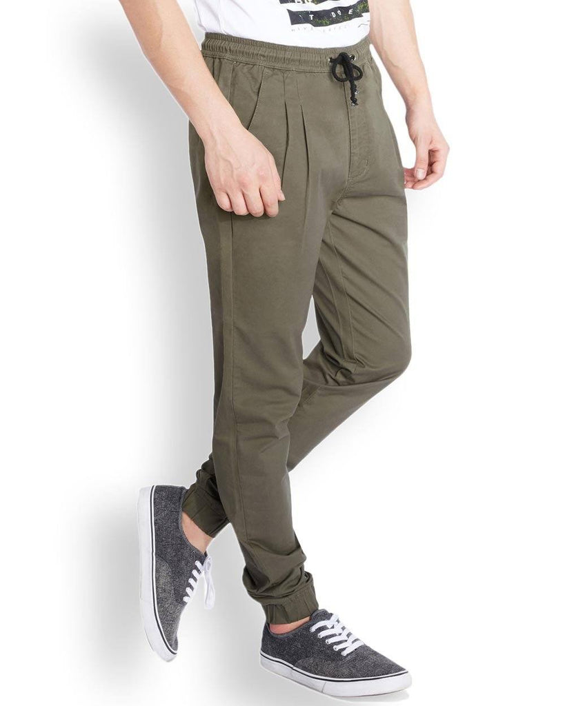 Parx  Green Jogger Fit Trouser
