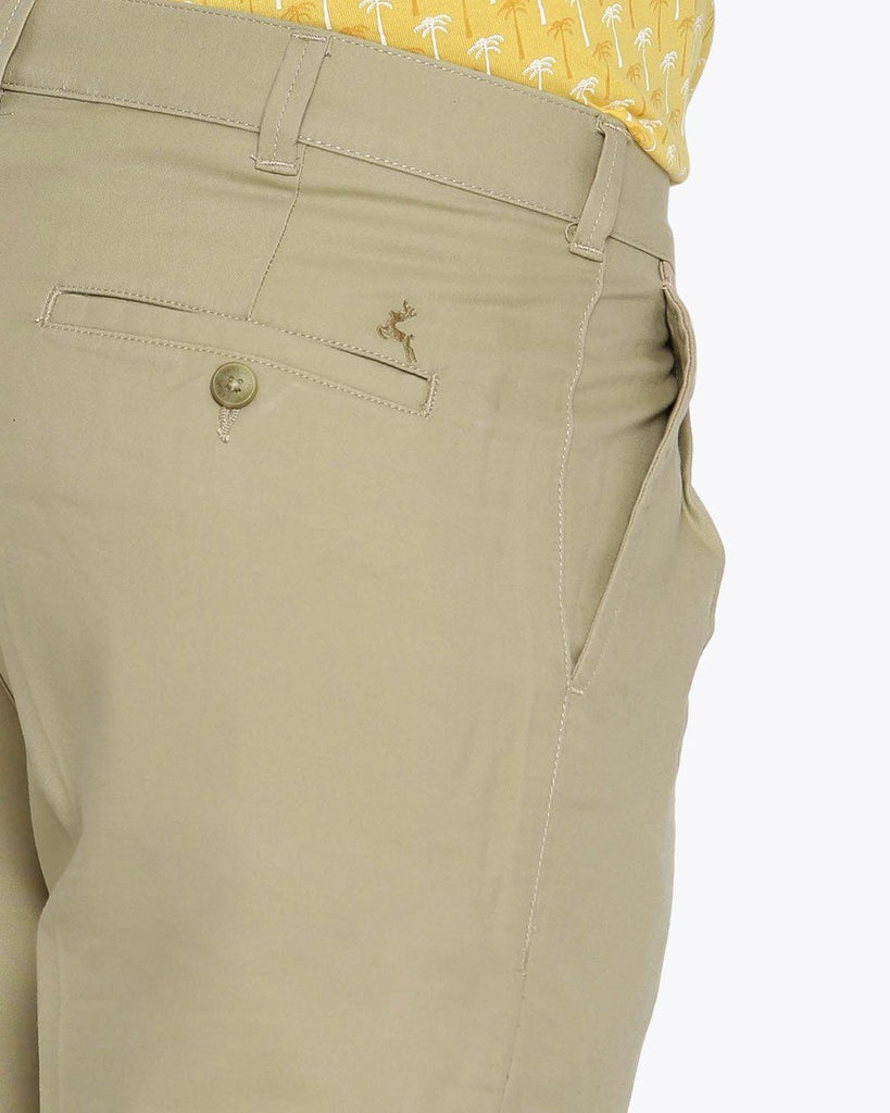 Parx Medium Khaki Regular Fit Trouser