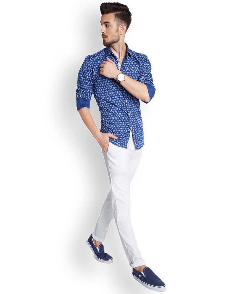 Parx  White Super Slim Fit Trouser