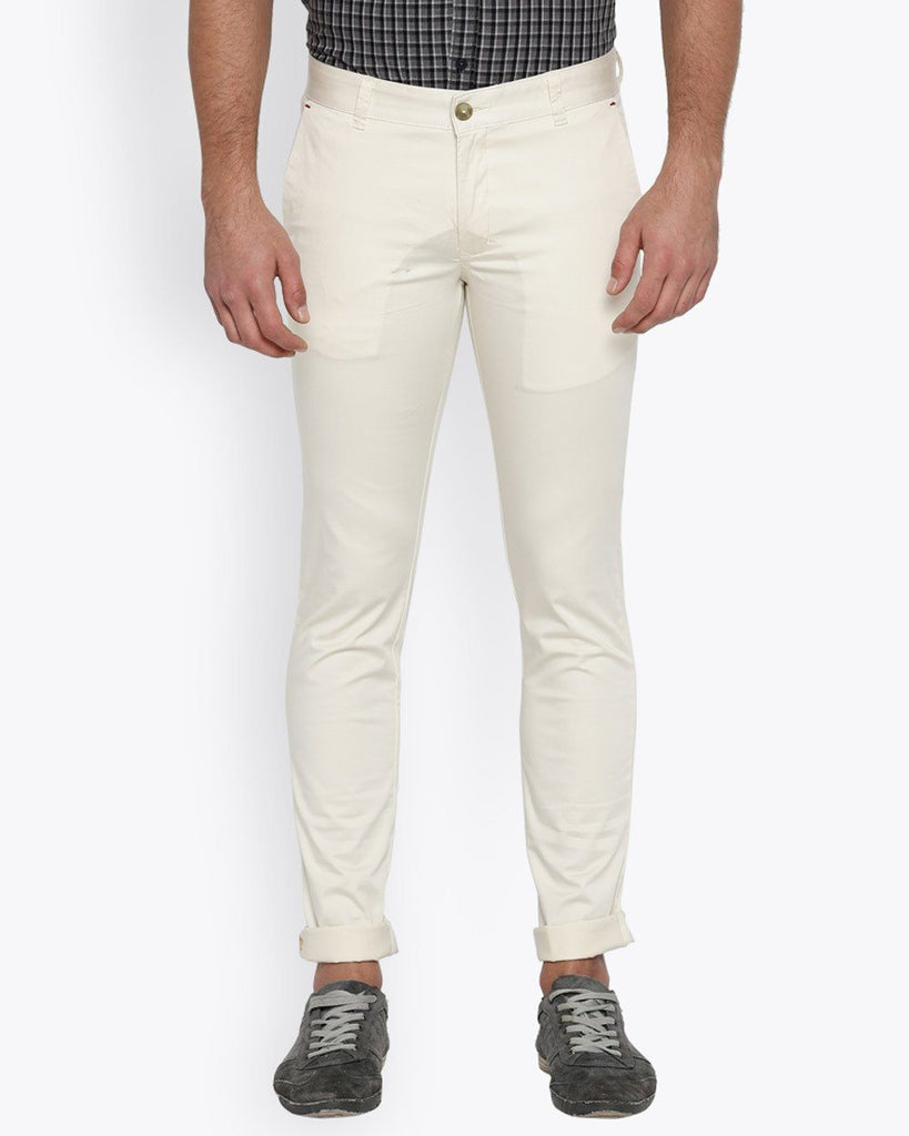 Parx Light Fawn Super Slim Fit Trouser