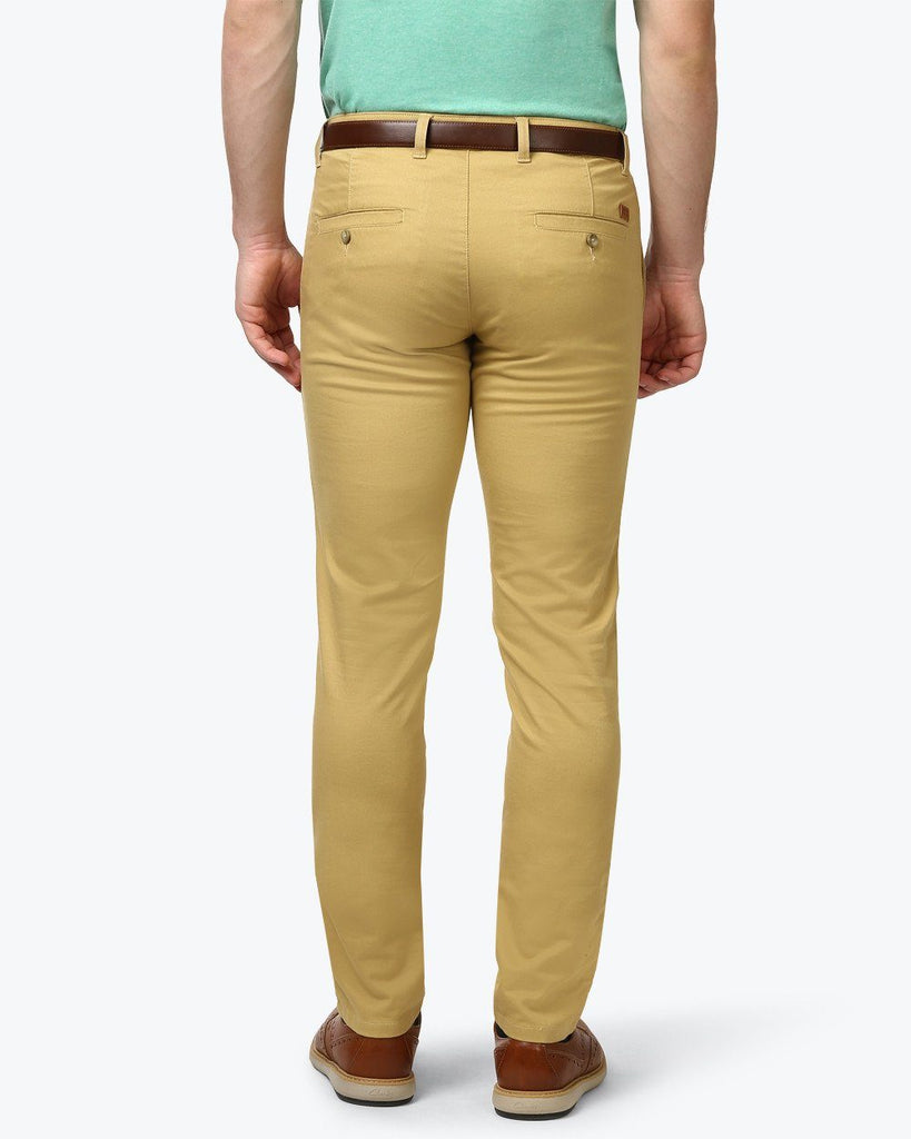 Parx Brown Super Slim Fit Trouser