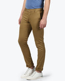 parx Dark Khaki Super Slim Fit Trouser