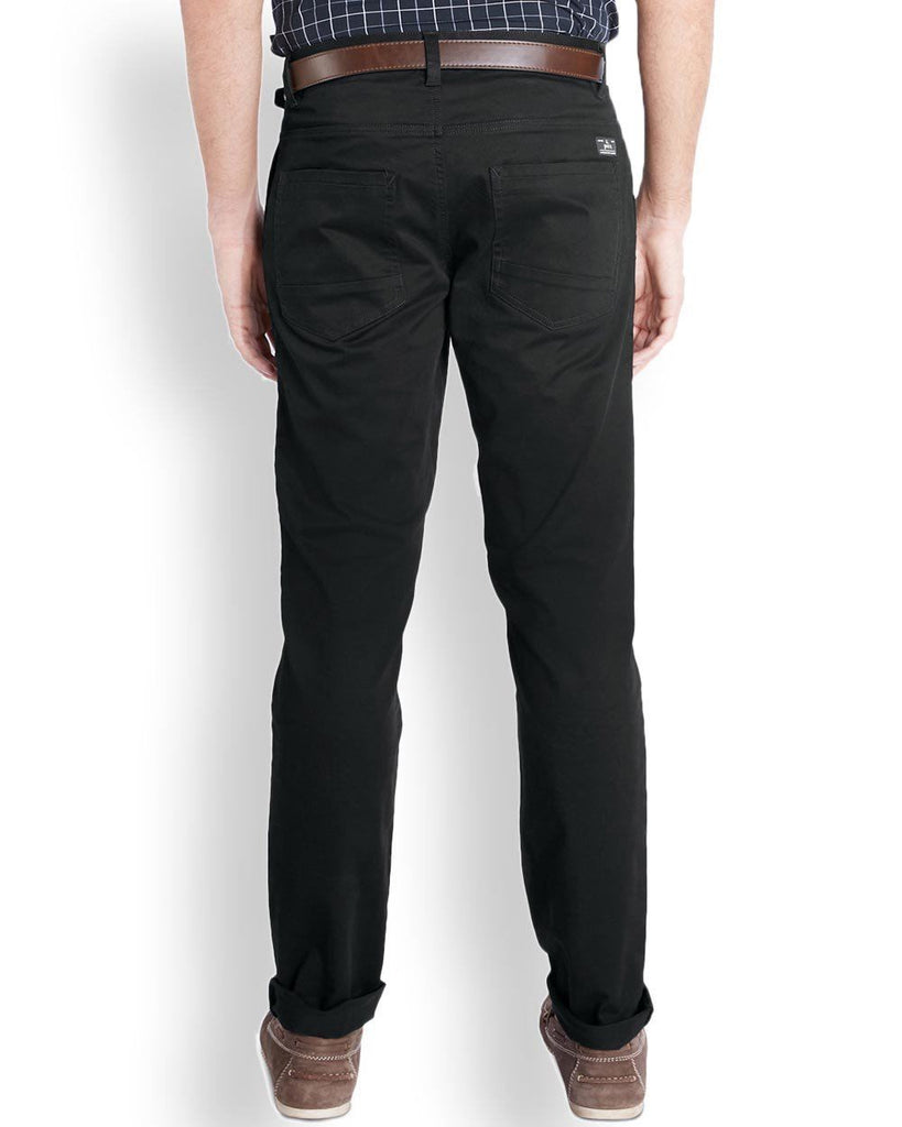 Parx  Black Slim Tapered Fit Trouser