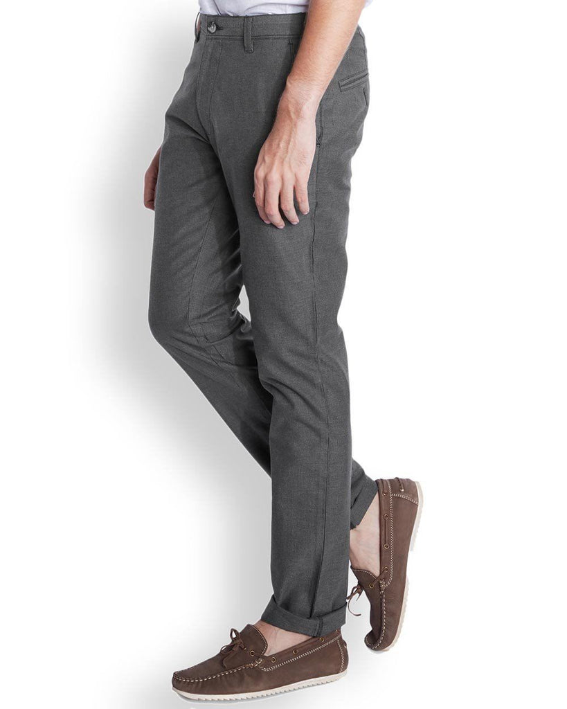 Parx  Grey Slim Tapered Fit Trouser