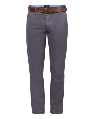 Parx Dark Grey Slim Tapered Fit Trousers