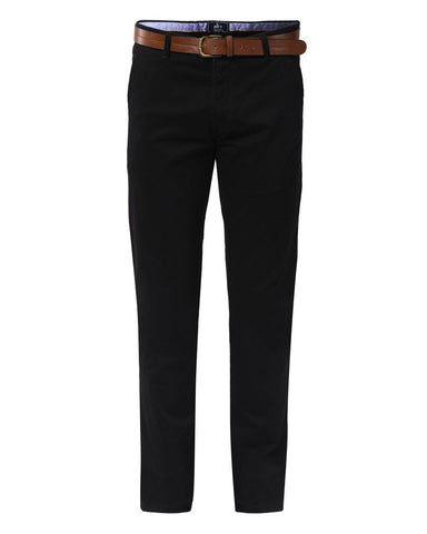 Parx Black Slim Tapered Fit Trousers