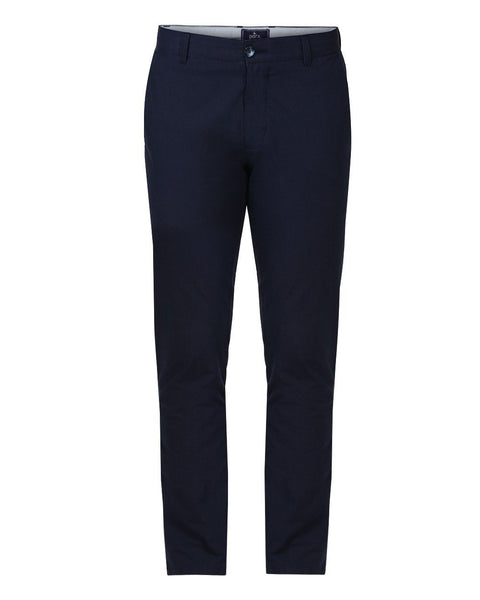 Parx Blue Slim Tapered Fit Trouser