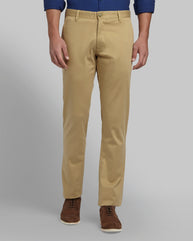Parx Medium Khaki Slim Fit Trouser