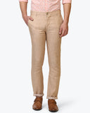 Parx Khaki Slim Tapered Fit Trouser