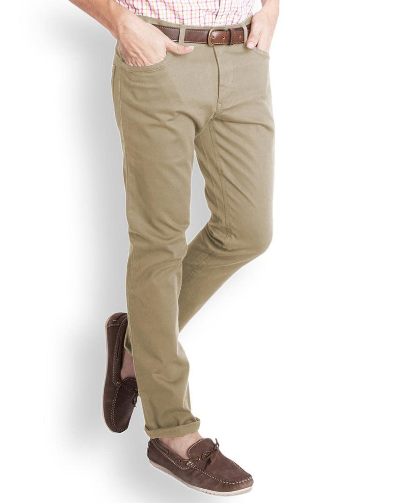 Parx  Khaki Regular Fit Trouser
