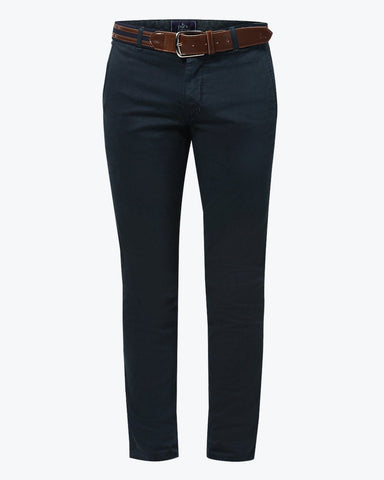 Parx Dark Blue Tapered Fit Trousers