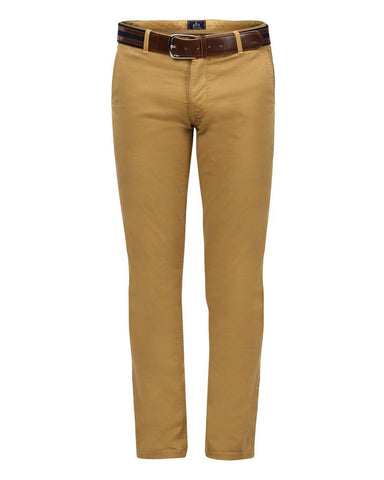 Parx Khaki Tapered Fit Trousers