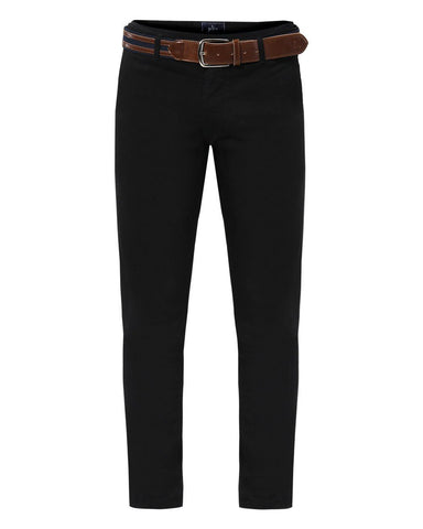 Parx Black Tapered Fit Trousers