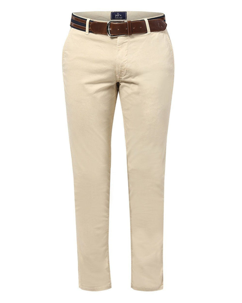 Parx Beige Tapered Fit Trousers