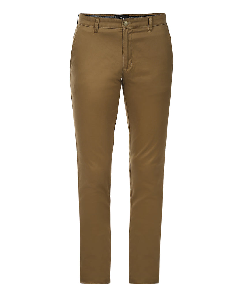 Parx Brown Regular Fit Trouser