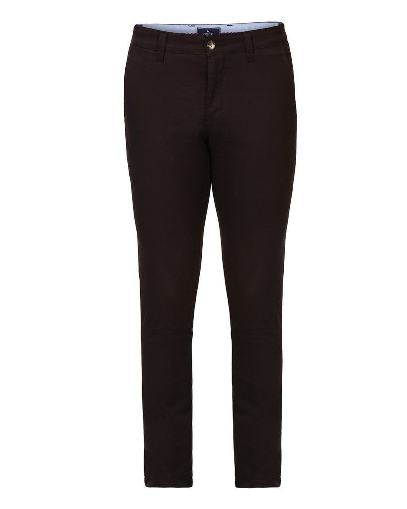 Parx Brown Low Rise Tapered  Trouser