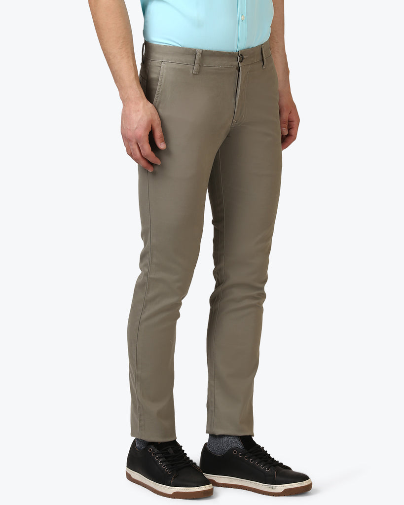 Parx Grey Regular Fit Trouser