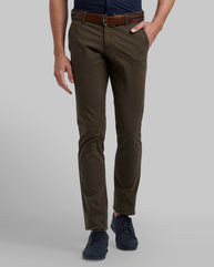 Parx Green Tapered Fit Trouser