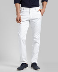Parx White Tapered Fit Trouser