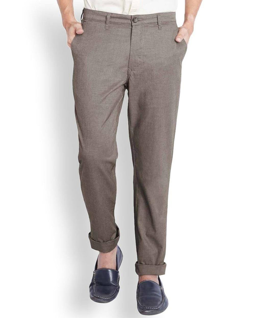 Parx  Brown Slim Fit Trouser
