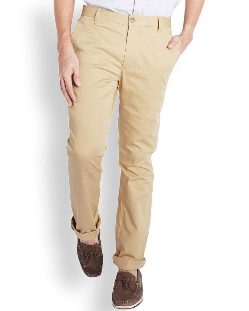 Parx  Beige Slim Fit Trouser