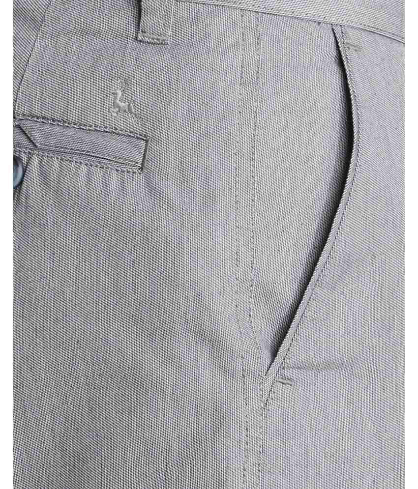 Parx  Grey Slim Fit Trouser
