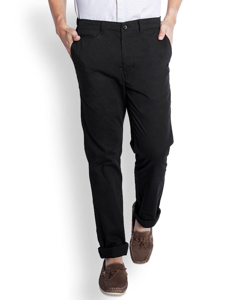 Parx  Black Slim Fit Trouser