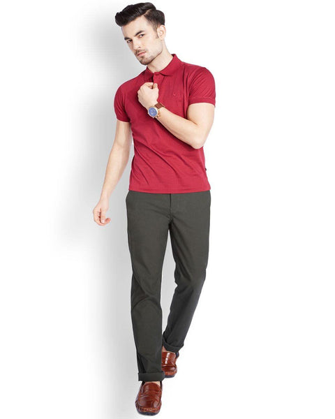 Parx  Green Slim Fit Trouser