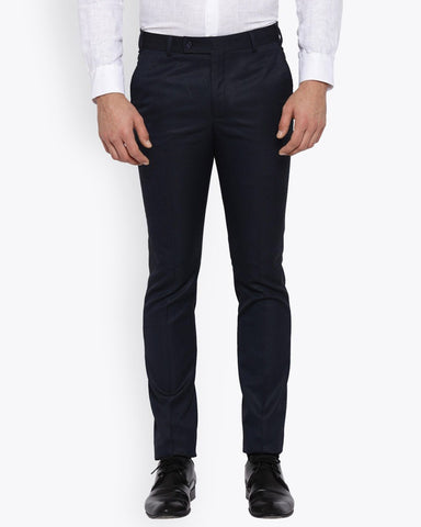 Parx Dark Blue Urban Fit Trouser