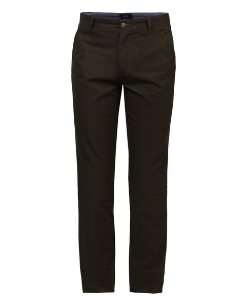 Parx Dark Green Slim Fit Trouser