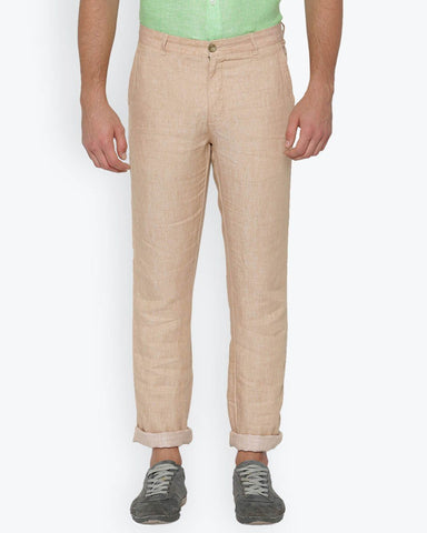 Parx Light Khaki Slim Fit Trouser
