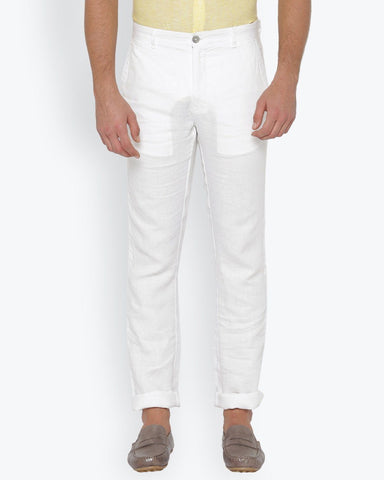 Parx White Slim Fit Trouser