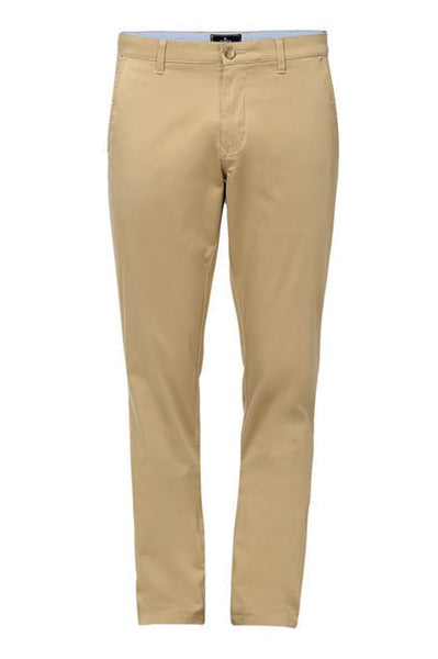 Parx Medium Khaki Low Rise Tapered Fit Trousers