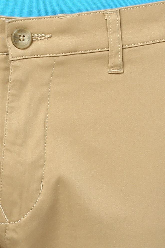 Parx Medium Khaki Tapered Fit Jeans