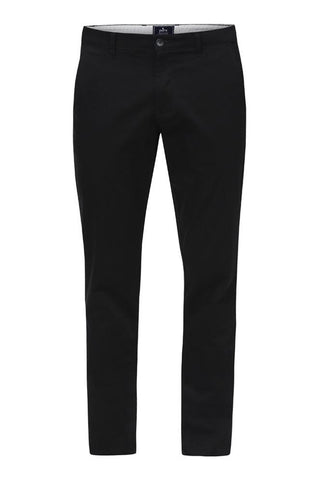 Parx Black Low Rise Tapered Fit Trousers