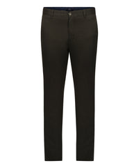 Parx Dark Brown Slim Fit Trouser