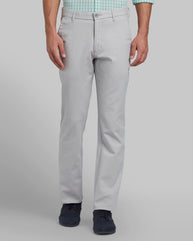 Parx Light Grey Slim Fit Trouser
