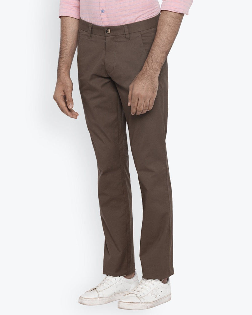 Parx Medium Brown Tapered Fit Trouser