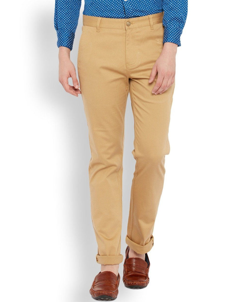 Parx  Beige Regular Fit Trouser