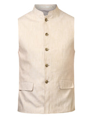 Parx Khaki Regular Fit Waist Coat