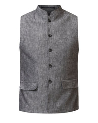 Parx Black Regular Fit Waist Coat