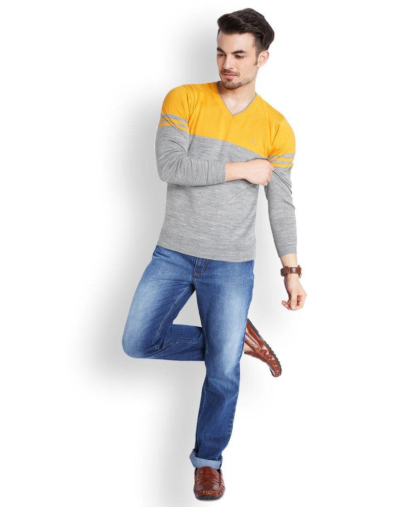 Parx  Yellow Regular Fit Sweater