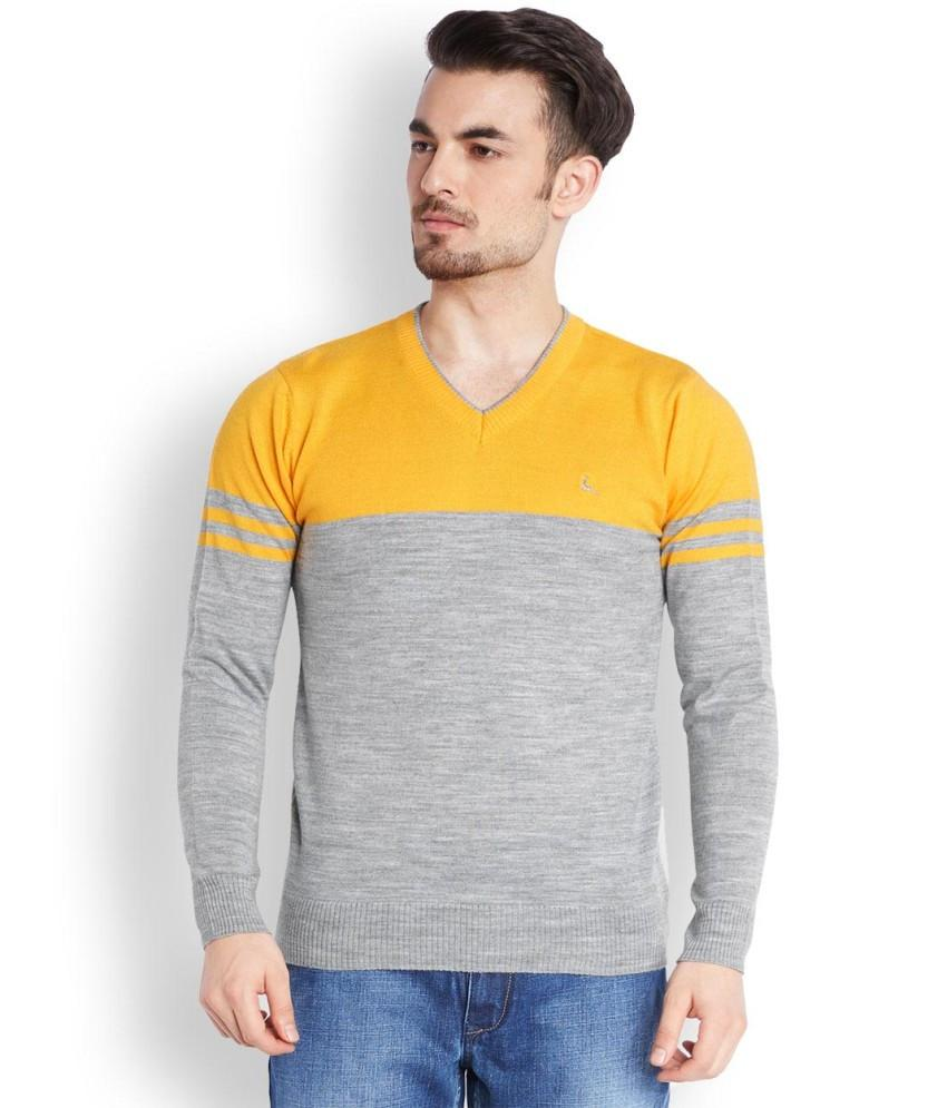 Parx  Yellow Solid Sweater